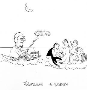 Flüchtlinge aufnehmen